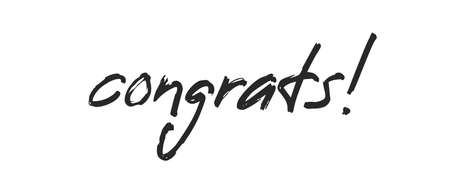 Congrats lettering. Handwritten modern calligraphy. Vector illustrated letters for congratulations design.