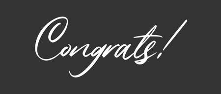 Congrats lettering. Handwritten modern calligraphy. Vector illustrated letters for congratulations design. Çizim