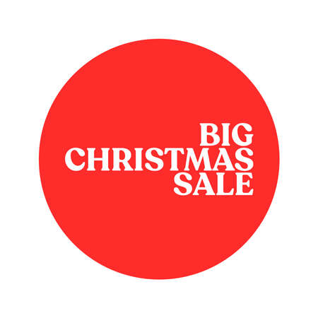 Christmas sale promotion badge. Xmas gift season promo banner.