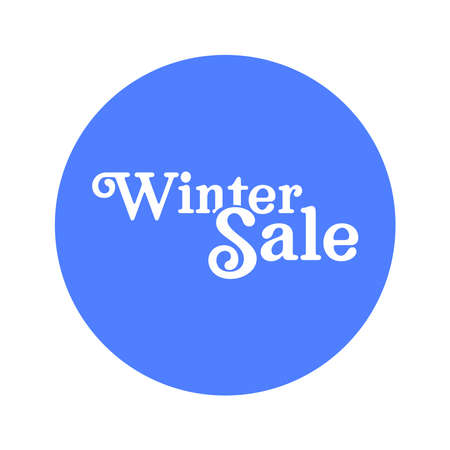 Winter sale badge banner. Promotion clearance. Ilustrace