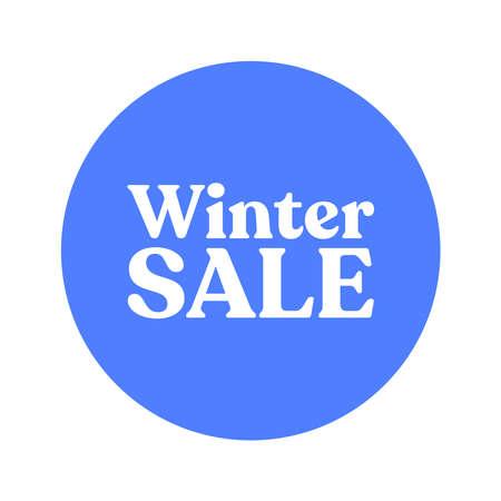 Winter sale badge banner. Promotion clearance. Ilustração
