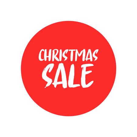 Christmas sale promotion badge. Xmas gift season promo banner.