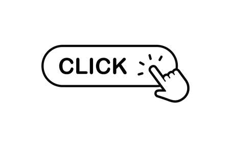 click button, hand pointer icon Ilustrace