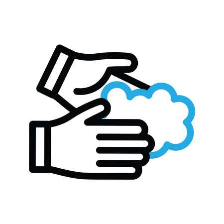 Wash your hands vector icon Standard-Bild - 143396224