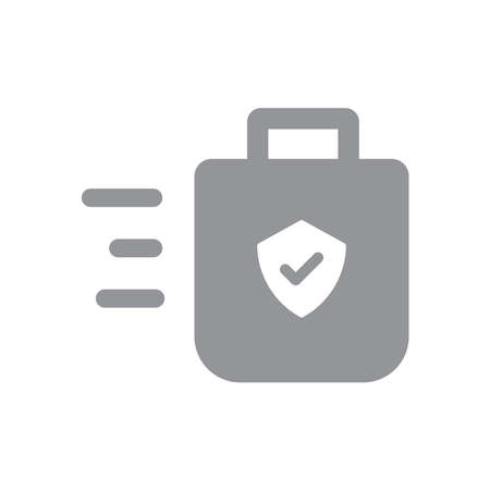 Safe delivery icon, safety measures for shipping concept. Package shipment  in quarantine times