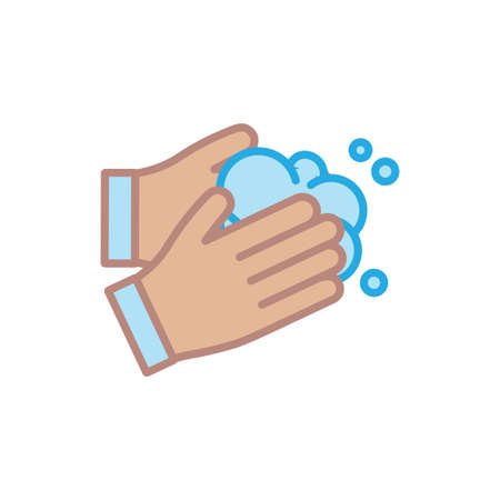 Wash your hands vector icon. Line art illustration. Coronavirus prevention. Illustration