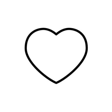 Heart shape vector. Linear icon. Love symbol.