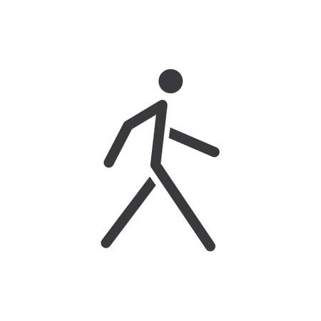 Walking man vector icon. People walk sign illustration. Pedestrian pictogram.