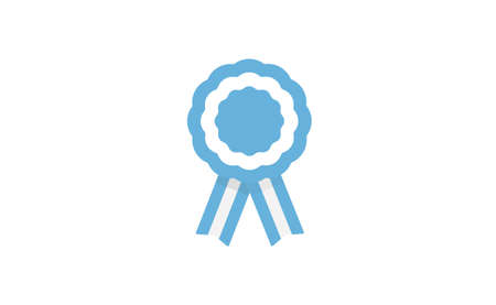 Argentina cockade. Badge with ribbons, rosette. argentinian flag colors. Vector illustration