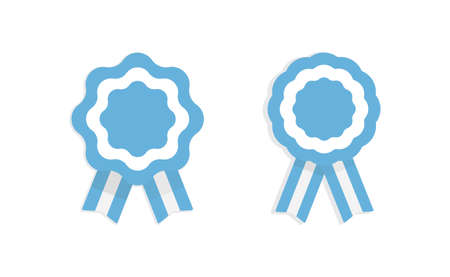 Argentina cockade. Badge with ribbons, rosette. argentinian flag colors. Vector illustration Ilustración de vector