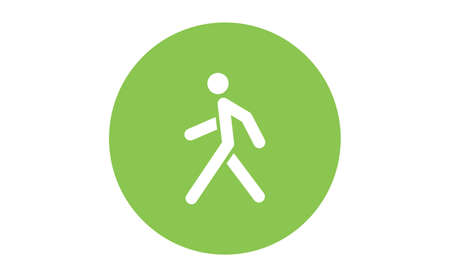 Person walking vector icon. Human figure walk sign.