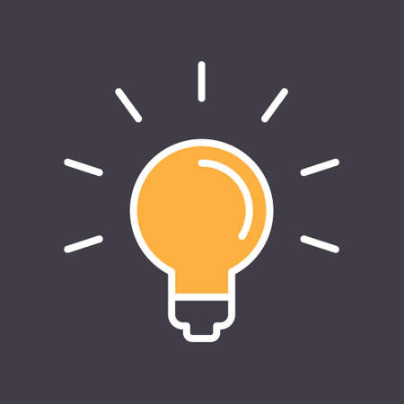 Light bulb shine icon. Idea lamp symbol. Vetores