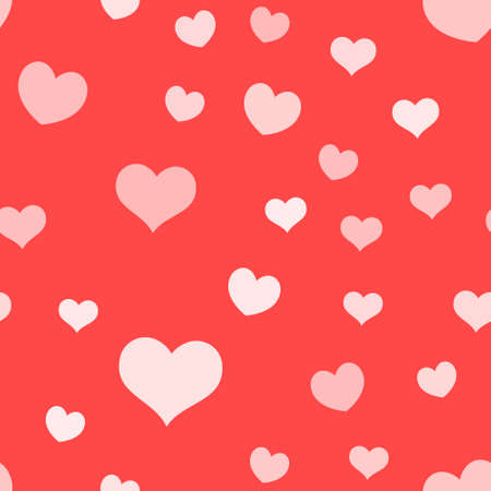 Hearts seamless pattern. Loop texture background of heart icons. Romance and love design.