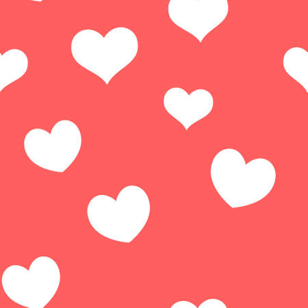 Seamless pattern of hearts. Universal print. Loopable love texture. Romantic background for designs.