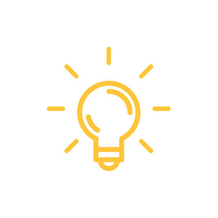 Light bulb shine icon. Idea lamp symbol.