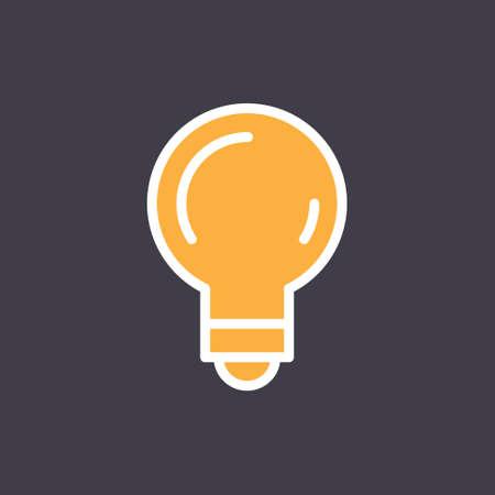 Light bulb icon, symbol of idea. Linear vector pictogram.