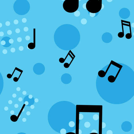 Musical notes seamless pattern. Music note texture background.