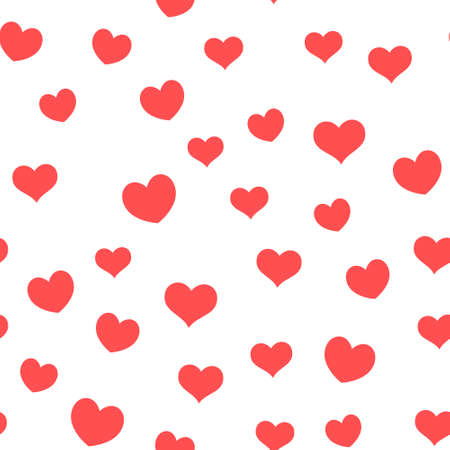 Hearts seamless pattern. Love symbols. Valentine's day background design. Romantic design loop texture.