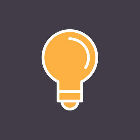 Idea icon, light bulb linear pictogram. Vector outline design. Symbol of creativity and innovation. Vettoriali