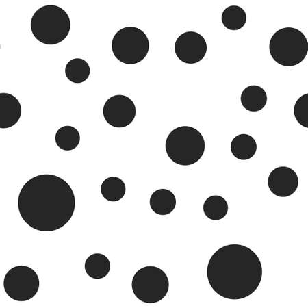 Dots seamless pattern. Random circles texture background.