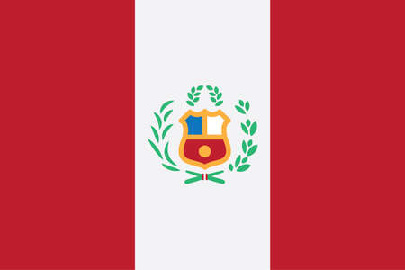 Flag of Peru. Peruvian national symbol vector illustration. Illustration