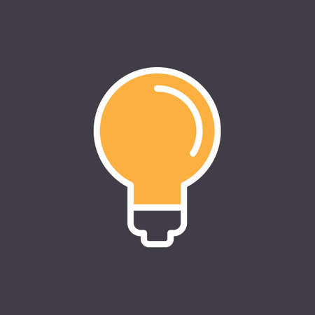 Light bulb icon, symbol of idea. Linear vector pictogram.