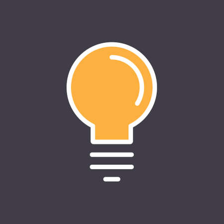Idea icon, light bulb linear pictogram. Vector outline design. Symbol of creativity and innovation. 向量圖像