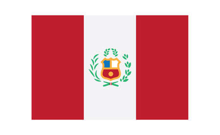 Flag of Peru. Peruvian national symbol vector illustration. 向量圖像