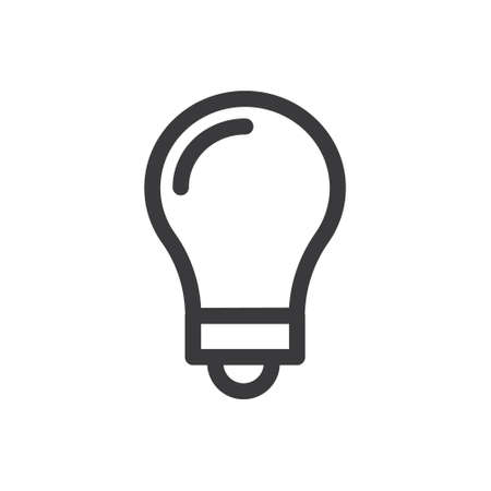 Electric lamp light bulb vector icon. Idea symbol.
