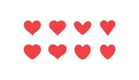 Hearts icon collection. Love symbol. Valentine's day heart vector set. Ilustrace