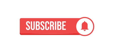 Subscribe click button with bell icon. Video social media platform.