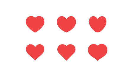 Heart icon collection. Valentine's day symbol. Hearts vector set. Ilustrace