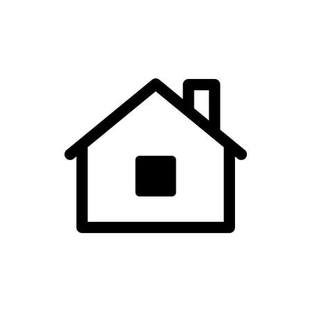 House vector icon. Home linear pictogram.