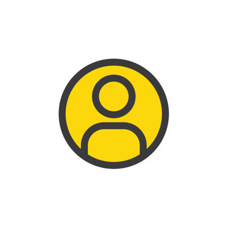 Login icon, vector user symbol. Simple linear pictogram. User interface account log in. Vettoriali