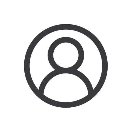 User icon. Human person symbol. Avatar log in vector sign Vettoriali