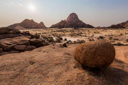 ices: A typical stone dominates the Namibian savanna