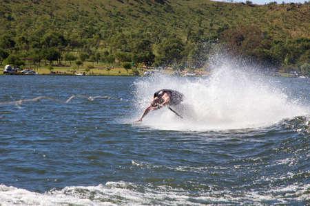 water ski wipeout