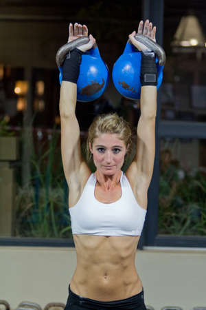 Kettlebell workout photo
