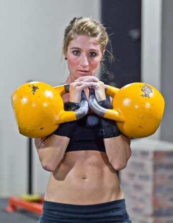 Kettlebell workout photo