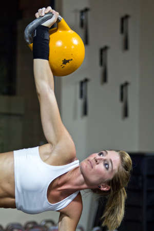 Kettlebell excercise photo