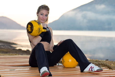 Kettlebells fitness photo