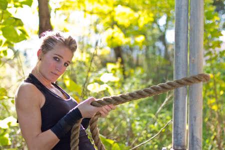 Outdoor model fitness photo