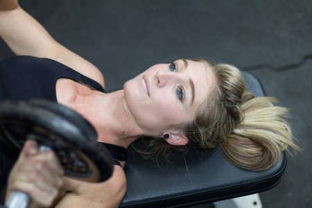 prowler: Strength training with fitness model Stock Photo