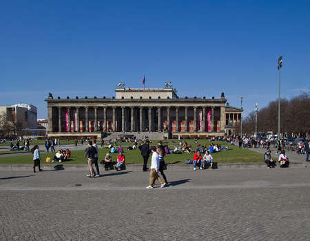 berlin museum with tourists