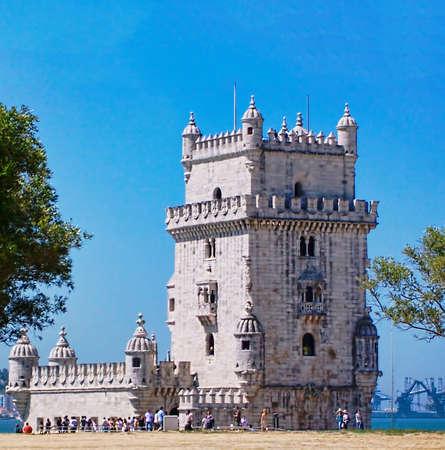 belem: beautiful belem tower beautiful panorama
