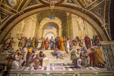 School of Athens by Raffaello sanzio vatican city rome