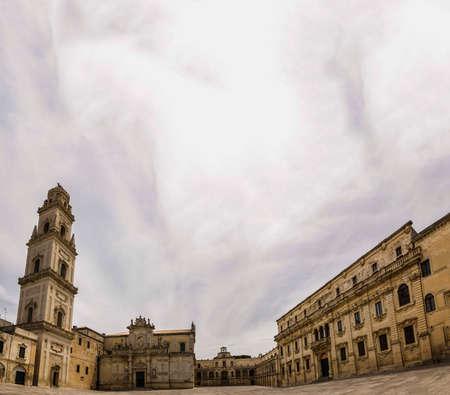 basilica: Lecce scene cathedral basilica Stock Photo