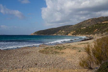 south coast: Overview of the south coast of Sardinia - pintau sea