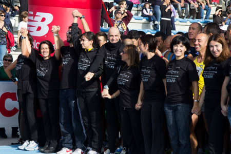 typhus: CAGLIARI, ITALY - 2012 November 4: 5 ^ Half Marathon - 4th memorial Delio Serra