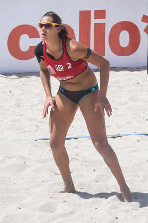 beach volley: QUARTU S.E. , ITALIA - 2014 GIUGNO 7: Europei Beach Volley 2014 - Poetto - Sardegna
